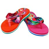 36 Units of GIRLS THONG SANDALS SIZE 11-3 PINK, RED - Girl's Flip Flops