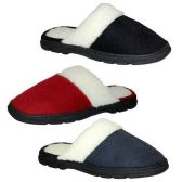 36 Units of WOMENS SLIPPERS SIZE S-XL BLCK, RED, BLUE