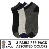 144 Units of 3 PACK BOYS SOCKS SIZE 4-6 ASSORTED COLORS