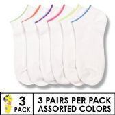 144 Units of 3 PACK LADIES SOCKS SIZE 9-11 ASSORTED COLORS