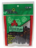 72 Units of FLORAL PICKS 60 COUNT 2 1/2 INCH WIRED ASSORTED PREPRICED $2.99