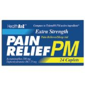 24 Units of PAIN RELIEF PM CAPLETS 24 COUNT ACETAMINOPHEN 500 MG/ DIPHENHYDRAMINE HCI 25 MG COMPARE TO TYLENOL PM