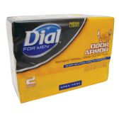 36 Units of DIAL FOR MEN ANTIBACTERIAL BAR SOAP 2 PACK 3.2 OZ EACH ODOR ARMOR MADE IN USA