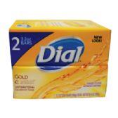36 Units of DIAL ANTIBACTERIAL BAR SOAP 2 PACK 3.2 OZ EACH GOLD