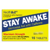 24 Units of STAY AWAKE TABLETS 16 COUNT CAFFEINE 200 MG COMPARE TO VIVARIN