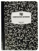 48 Units of COMPOSITION NOTEBOOK 100 SHEET 9.75 X 7.5 INCH WIDE RULED