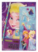 24 Units of DISNEY FROZEN STATIONERY SET 7 PC INCLUDES WRITING PAD/MEMO PAD/ PENCIL/ ERASER/ SHARPENER/ CALCULATOR/STICKER SHEET