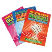 48 Units of SUDOKU BOOK 96 PG MULTILEVEL ASSORTED VOLUMES - Coloring Books