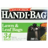 6 Units of HANDI BAG LAWN AND LEAF BAGS 34 COUNT 39 GALLON VALUE PACK