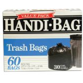 6 Units of HANDI BAG TRASH BAG 60 COUNT 30 GALLON