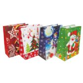 48 Units of CHRISTMAS GIFT BAG 13 X 10.25 X 5 INCH LARGE - Christmas Gift Bags and Boxes