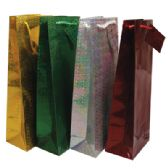 48 Units of HOLOGRAPHIC GIFT BAG 14 X 5 X 3.25 INCH BOTTLE - Gift Bags