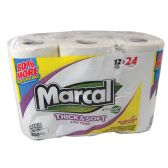 MARCAL MEGA 300 SHEET PER ROLL 2PLY 12PK THICK AND SOFTSEPTIC SAFE RECYCLED FIBRE
