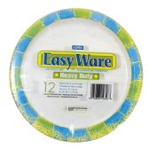 16 Units of EASY WARE PRINT DESIGN 8 5/8 12CT HEAVY DUTY PAPER PLATE MICROWAVE SAFE GREASE RESISTANT - Dinnerware > Plates