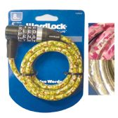 9 Units of BICYCLE LOCK 4 FT 8 MM ASSORTED DESIGNS-WORD COMBINATION - PADLOCKS/IRON/BRASS/COMBO