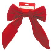 60 Units of CHRISTMAS RED VELVET BOW PREPRICED $ 1.28 - Christmas Novelties