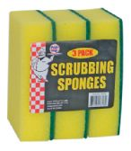 36 Units of SCRUBBING SPONGE 3 PACK 5.5 X 3.75 INCH