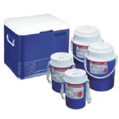 COOLER SET 5 PC - 5.85 GL COOLER/ 2 PC 0.6 GL JUGS/ 2 PC 0.30 GL JUGS - Cooler & Lunch Bags