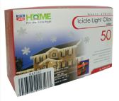 36 Units of FAMOUS BRANDS LIGHT CLIPS 50 CT ICICLE WHITE - Lamps and Lanterns