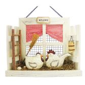 18 Units of HANGING WALL WELCOME DECO HEN AND ROOSTER SCENE 11.5 X9.5 TALL