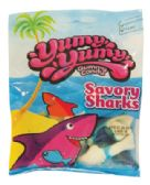 12 Units of YUMY YUMY GUMMY SAVORY SHARKS 4.5 OZ - Food & Beverage