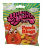 12 Units of YUMY YUMY PEACH RINGS 4.5 OZ - Food & Beverage