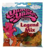 12 Units of YUMY YUMY GUMMY LEGEND MIX 4.5 OZ - Food & Beverage