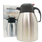 12 Units of BRENTWOOD COFFEE THERMOS 52 OUNCES STAINLESS STEEL - Kitchen Gadgets & Tools