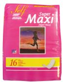 36 Units of SELF MAXI PADS 16 COUNT SUPER  MADE IN USA