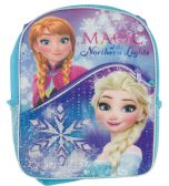 "12 Units of DISNEY BACKPACK 16""""WITH FRONT POCKET FROZEN ELSA & ANNA MAGIC OF THE NORTHERN LIGHTS - Backpacks"