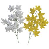 72 Units of METALLIC MAPLE LEAF DECORATION 28 INCH PREPRICED $2.99 - Floral/Branches