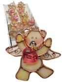 36 Units of DECORATIVE POT HANGERS 3 INCH IN DISPLAY ASSORTED BEAR ANGEL DESIGNS - GARDEN PLANTERS/HANGERS/POTS