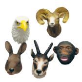72 Units of MAGNETS 2 INCH ASSORTED ANIMAL HEAD DESIGNS - MAGNETS/REFG. MAGNETS/SHAPE MG