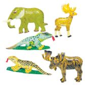 72 Units of MAGNETS 3 INCH ASSORTED ANIMAL DESIGNS