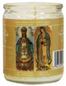 12 Units of RELIGIOUS CANDLE 3.25 INCH DUAL SAINTS- OUR LADY OF GUADALUPE / OUR LADY OF SAN JUAN - Candles