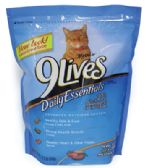 6 Units of 9 LIVES CAT DRY FOOD 18 OZ DAILY ESSENTIALS - SALMON CHICKEN AND BEEF - Pet Toys