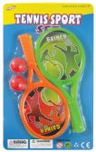 24 Units of TENNIS PLAY SET WITH 2 BALLS 8.5X3.75 INCHES - Toy Sets