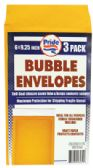 36 Units of BUBBLE ENVELOPE 3 PACK 6 X 9.25 INCH - Envelopes