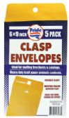 36 Units of CLASP ENVELOPE 5 PACK 6 X 9 INCH - Envelopes