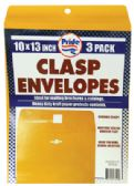 36 Units of CLASP ENVELOPES 3 PACK 10 X 13 INCH - Envelopes