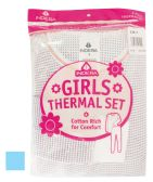 24 Units of GIRLS THERMALS SET 2 PIECE SIZE 8 ASSORTED COLORS