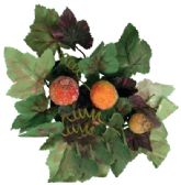 48 Units of BEADED FRUIT AND LEAF CANDLE RING/CENTERPIECE 8 INCH PREPRICED $2.99 - Floral/Branches