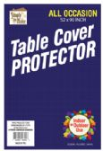 36 Units of VINYL TABLECLOTH PROTECTOR 52 X 90 INCH RECTANGULAR - Table Cloth