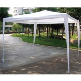 2 Units of TUBE GAZEBO 12 X 12 FOOT WHITE - Garden Decor
