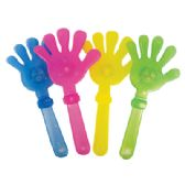 48 Units of CLAPPING HAND 9.5 INCH WITH LED LIGHTS ASSORTED COLORS - Novelty Toys