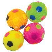 72 Units of FLASHING SQUEEZE BALL 3 INCH WITH LED LIGHT IN DISPLAY SOCCER DESIGN ASSORTED COLORS