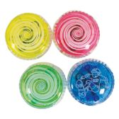 72 Units of FLASHING YOYO BALL 2 INCH WITH LED LIGHT IN DISPLAY ASSORTED COLORS