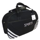 12 Units of SPORT DUFFEL BAG 21 X 13.5 X 7 INCH BLACK WITH WHITE STRIPE