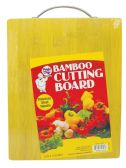 12 Units of BAMBOO CUTTING BOARD 8.25 X 12.6 INCH HEAVY DUTY WITH STAINLESS STEEL HANDLE - Cutting Boards