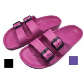 18 Units of EVA LADIES SANDAL SIZE 6 - 11 ON HANGER ASSORTED COLORS - Womens Sandals